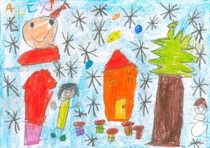 Premio Saúda de Nadal Alexia Gonzalez Busto 6º de Infantil CEIP J.R.O. (5 anos)