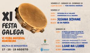 ANUNCIO FESTA GALEGA DIARIO 255X152 MM pandereta