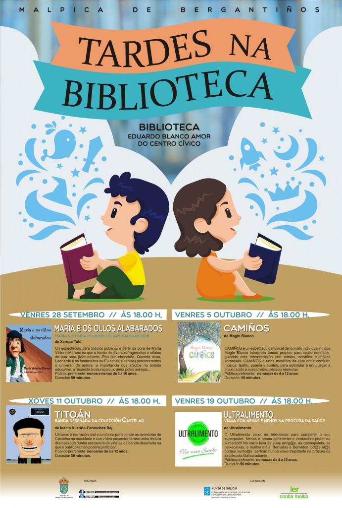CARTEL TARDES NA BIBLIOTECA