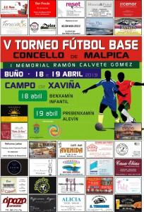Cartel V Torneo de Fútbol Base Concello de Malpica