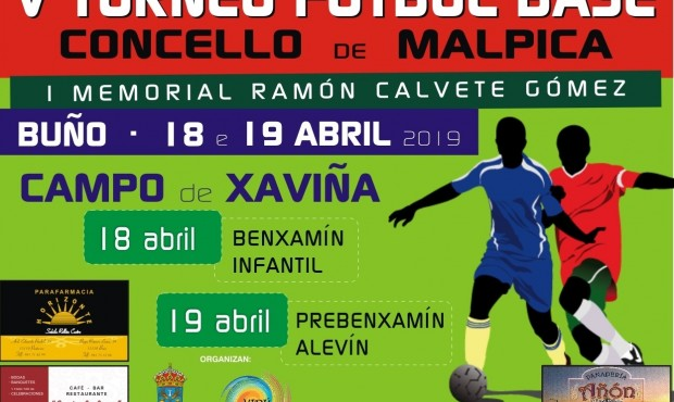 Cartel V Torneo de Fútbol Base Concello de Malpica 2